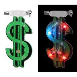 "Badge Led lumineux en forme de ""Dollar"""