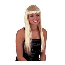Perruque Cheveux Longs Pretty Pony Blond Platine
