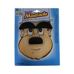 Fausse moustache et faux sourcils Epais