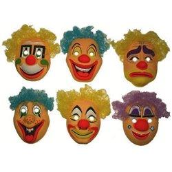 Masque Coque Clown Enfant avec Cheveux Différent Coloris