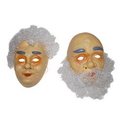 Masque de Grand-Mère avec Cheveux Blancs Gris