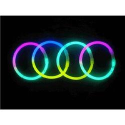 Lot de 100 Bracelets Lumineux Fluo Bicolores