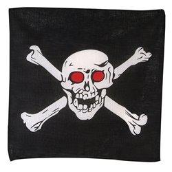 Bandana de pirate Crâne aux yeux rouges