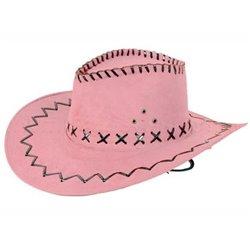 Chapeau Cowboy cuir Rose