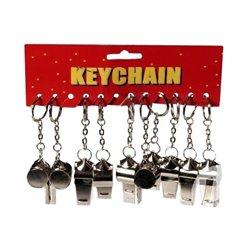 Porte-clés avec sifflet en métal personnalisable