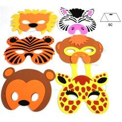 Masque en mousse pour enfant Animal du zoo Mix