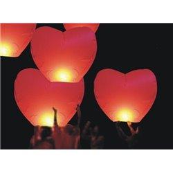 Lanterne volante chinoise Coeur rouge