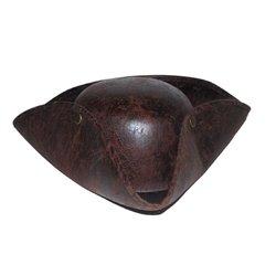 Chapeau tricorne pirate imitation cuir