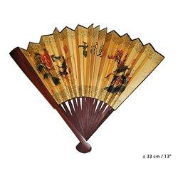 Éventail Chinois en Bois avec Motif  33 cm
