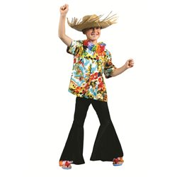 Chemise hawaïenne multicolore pour enfant