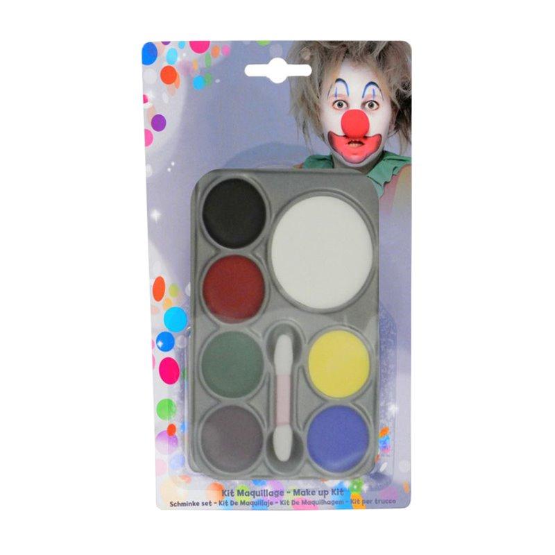 Palette de maquillage à l'eau pour visage 7 couleurs