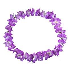 Collier à fleurs Tahiti Violet épais
