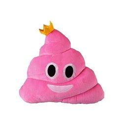 Coussin emoji caca princesse Rose 29cm