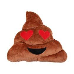 Coussin emoji Caca amoureux 29cm