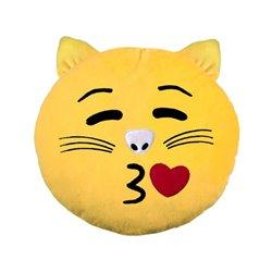 Coussin emoji Chat bisou 33cm
