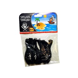 Lot de 8 ballons noirs Pirate