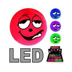 Balle lumineuse Smiley à LED 5cm