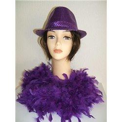 Boa à plumes violet