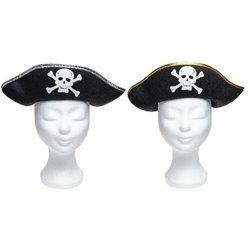 Chapeau de pirate à tête de mort Adulte