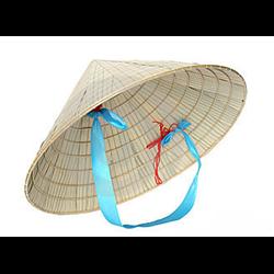 Chapeau de paille en cône Asiatique