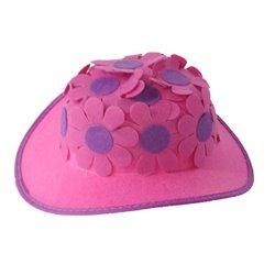 Chapeau pour Femme à Fleurs Rose