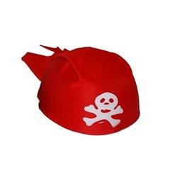 Chapeau bandana de pirate pour enfant Rouge