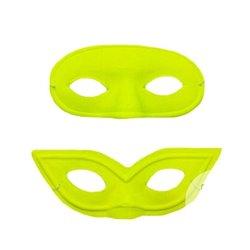 Masque de loup en pvc jaune néon fluo