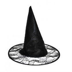 Chapeau de sorcière avec toile d'araignée