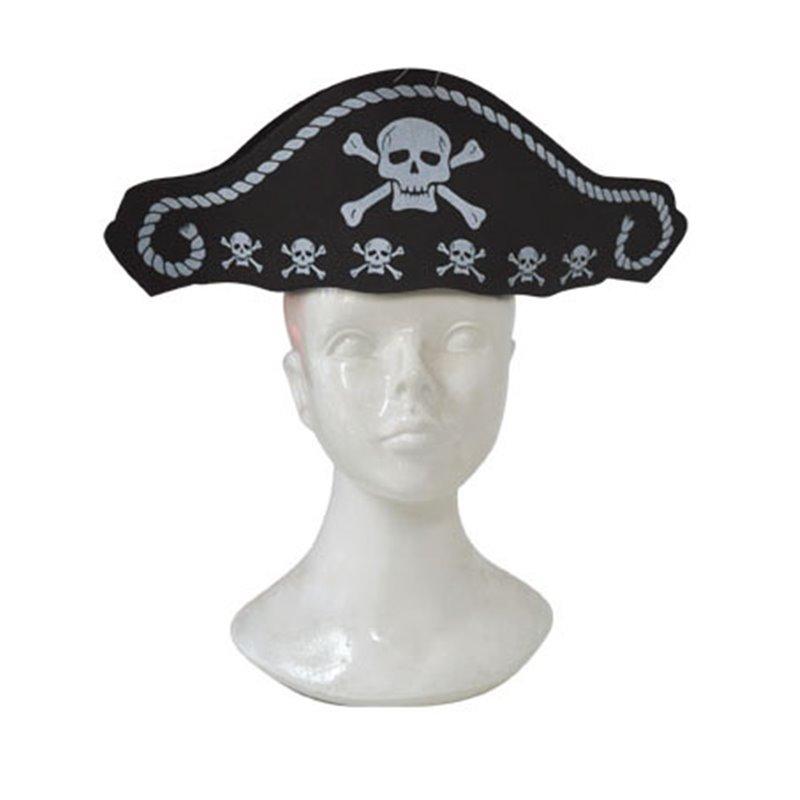 Chapeau de pirate tête de mort