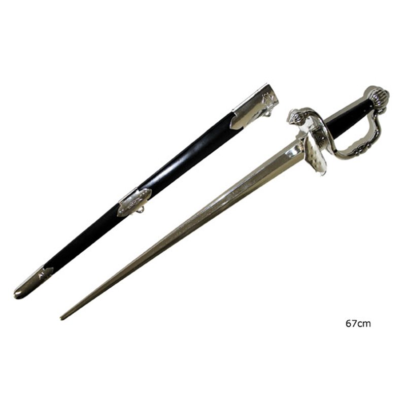 Épée de chevalier avec son fourreau 67cm