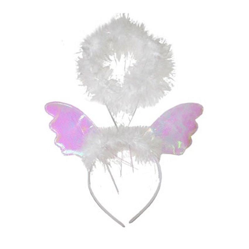 Serre-tête avec auréole et ailes d'ange