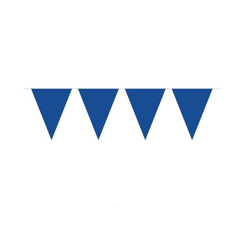 Guirlande avec fanions uni bleu