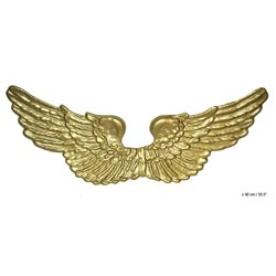 Ailes d'aigle en plastique doré 90cm