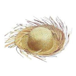 Chapeau de paille de jardinier clair