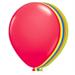 Lot de 10 ballons néon fluorescent multicolores