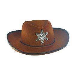 Chapeau de cowboy avec étoile Shérif