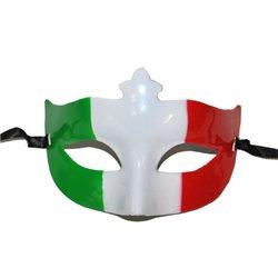 Masque loup drapeau Italie