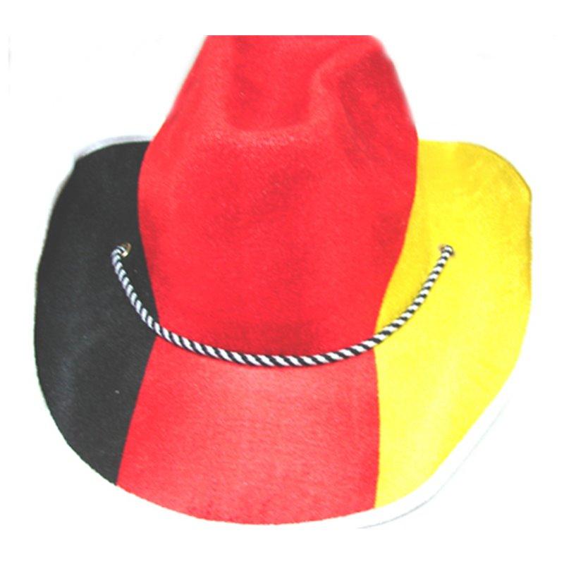 Chapeau cowboy drapeau Allemagne