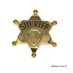 Etoile de shériff en métal OR