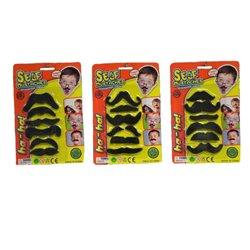 Lot de 6 moustaches variées
