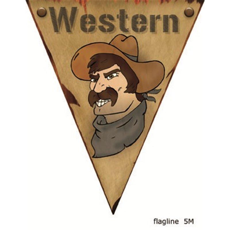 Guirlande western avec fanions