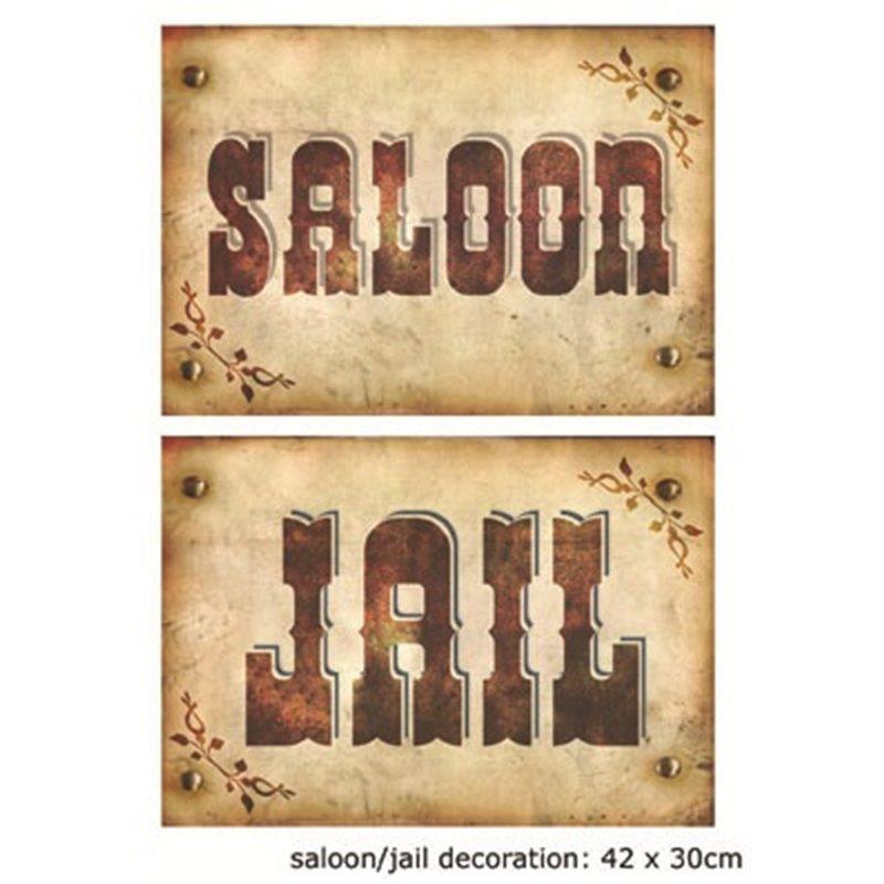 Panneau saloon / jail