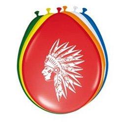 Lot de 8 ballons indien rainbow