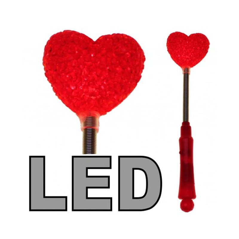 Bâton Lumineux LED Cœur Rouge