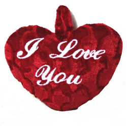 """Coussin Cœur en Peluche """"I LOVE YOU"""""""