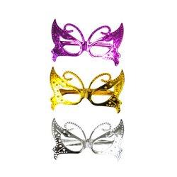 Lunettes papillon fantaisie métallisé