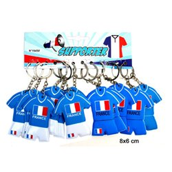Porte-clés maillot de football FRANCE