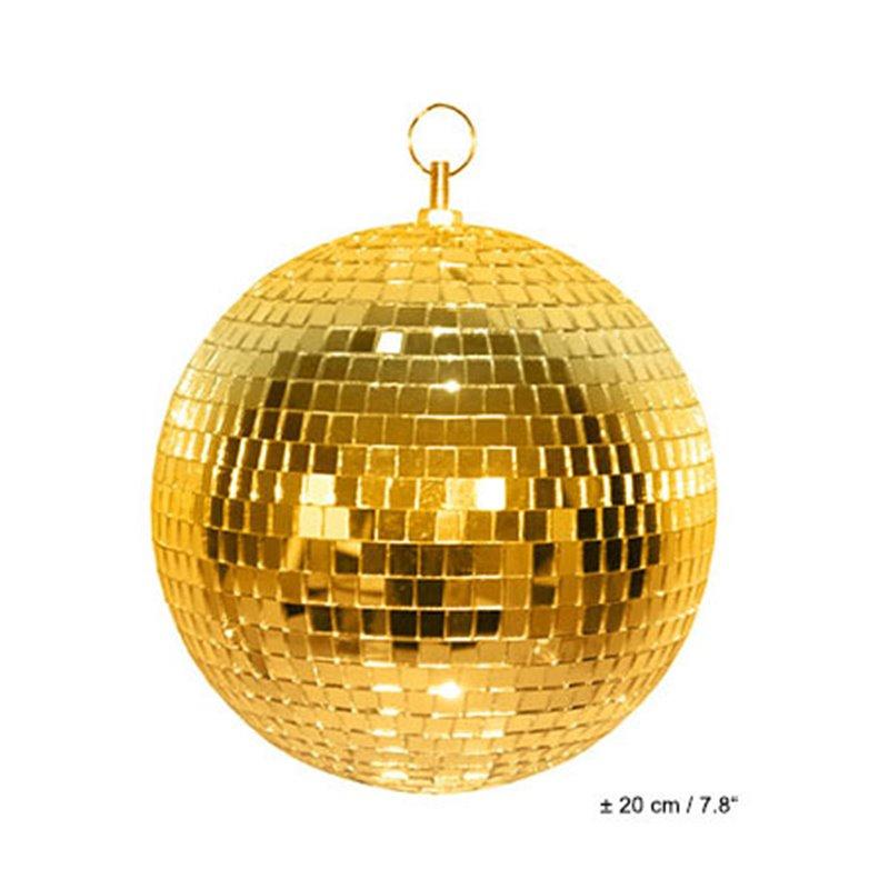 Boule à facettes doré 20 cm