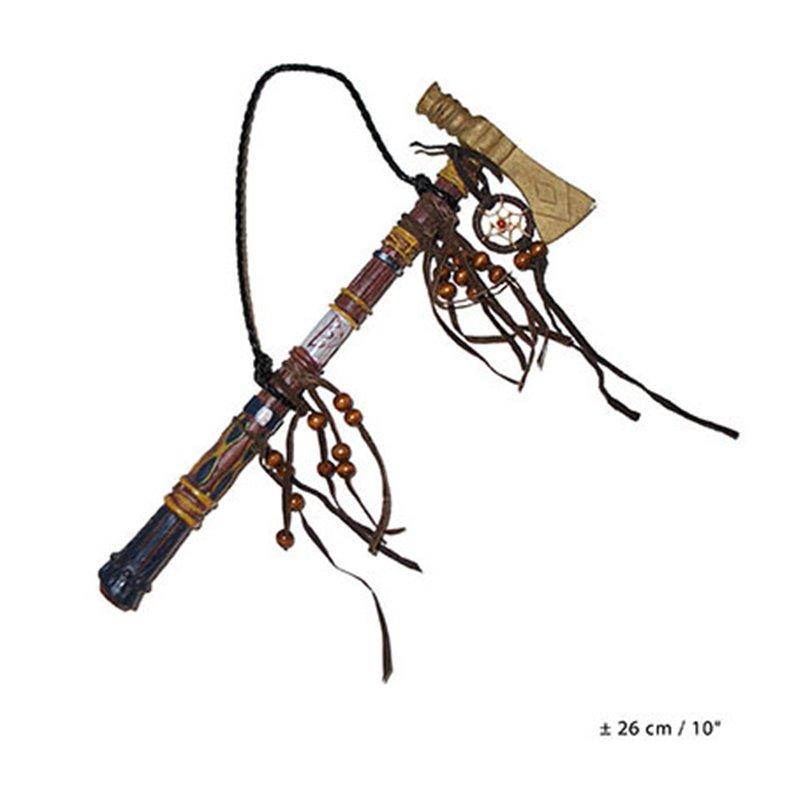 Hache tomahawk d'indien avec attrape rêve 26cm