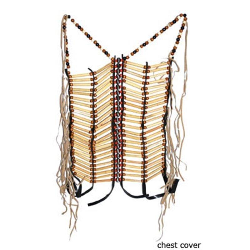 Collier d'indien long en bois